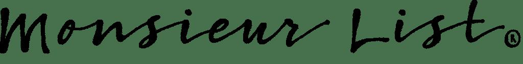 Logo Monsieur List marque française d'accessoires de mode haut de gamme pour homme
